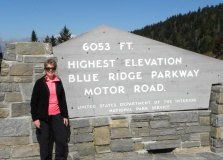 The highest point on the parkway (south of Waynesville, near Mount Pisgah in North Carolina) is 6053 feet or above sea level on Richland Balsam Mountain at Milepost 431