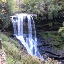 One of the many falls in the area