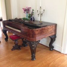 Rosewood piano from the 1860s