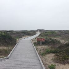 Board walk to the middle of the beach