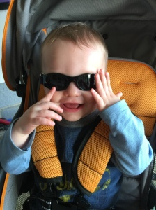 Heading out for a stroller ride around the neighborhood today, as I was writing this blog!