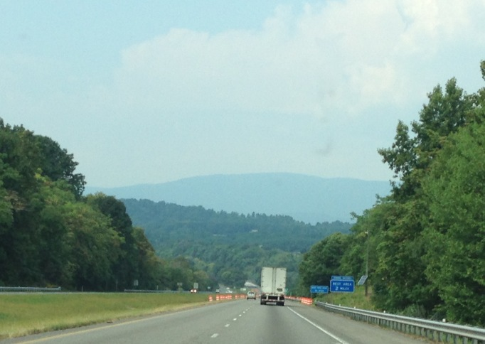 We're on Interstate 64, headed from Gordonsville to the Shenandoah National Park