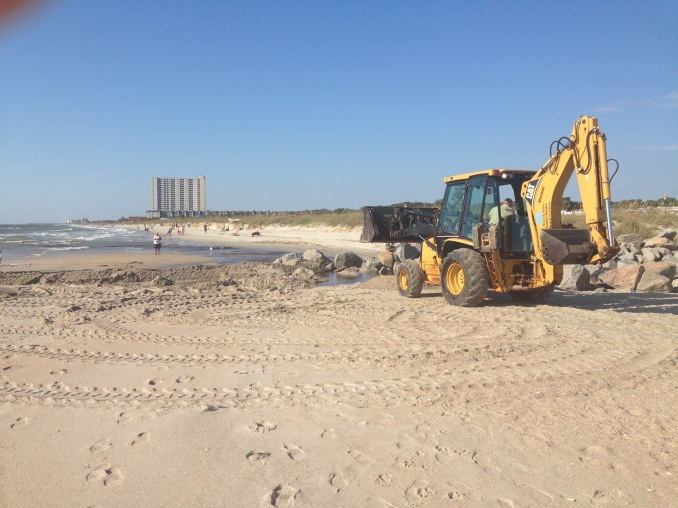 They do beach erosion repair as needed.