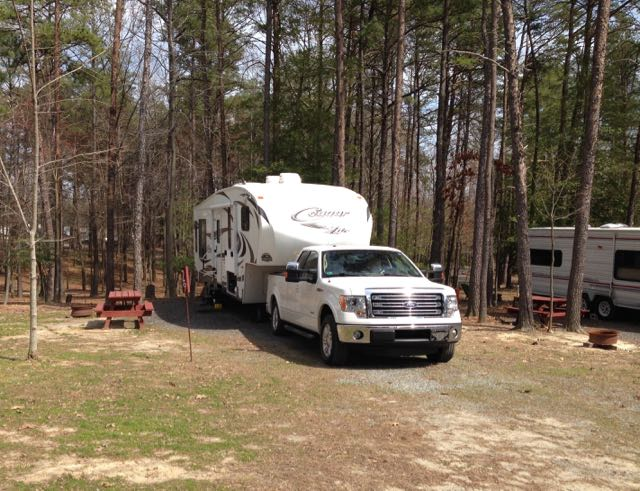 Our 28' Keystone Cougar XLite 5th wheel and F-150 Ecoboost Ford Truck.