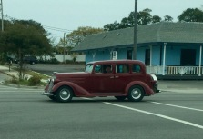 The streets were flooded with antique cars!