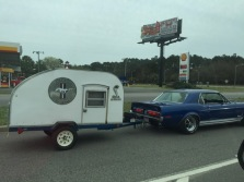 How cool is it to see a Shelby Mustang towing a trailer?