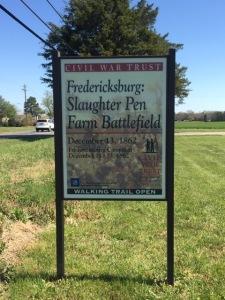 Fredericksburg Slaughter Pen Farm Battleground