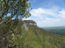 As you enter the top of the park, you can look over to the top of Pilot Mountain