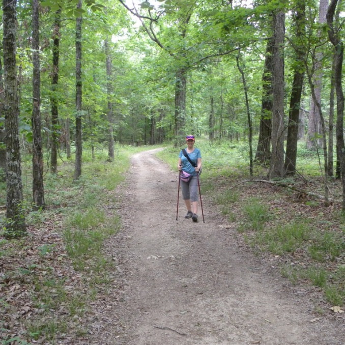 Wonderful trail. Not sure we needed our hiking poles, but you never know! I also see them as a way to protect myself from a bear or snake....