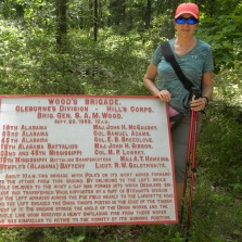 Amazing markers along the path with Civil War battle details