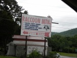 Good signage. The campground looked good too, but Bill said no way he'd drive Tiffany up here!