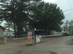 The campground is gated and you get the code when you register in Camping World.