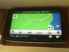 Loving our GPS up on the TV screen. But it still didn't help us know what to do....