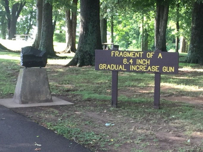 Nice signage with a few historical remnants from the battle.