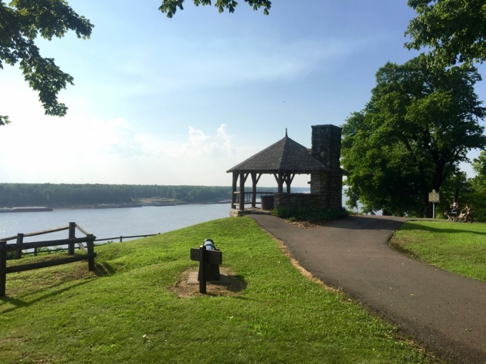 Beautiful gazebo gives you excellent river views.