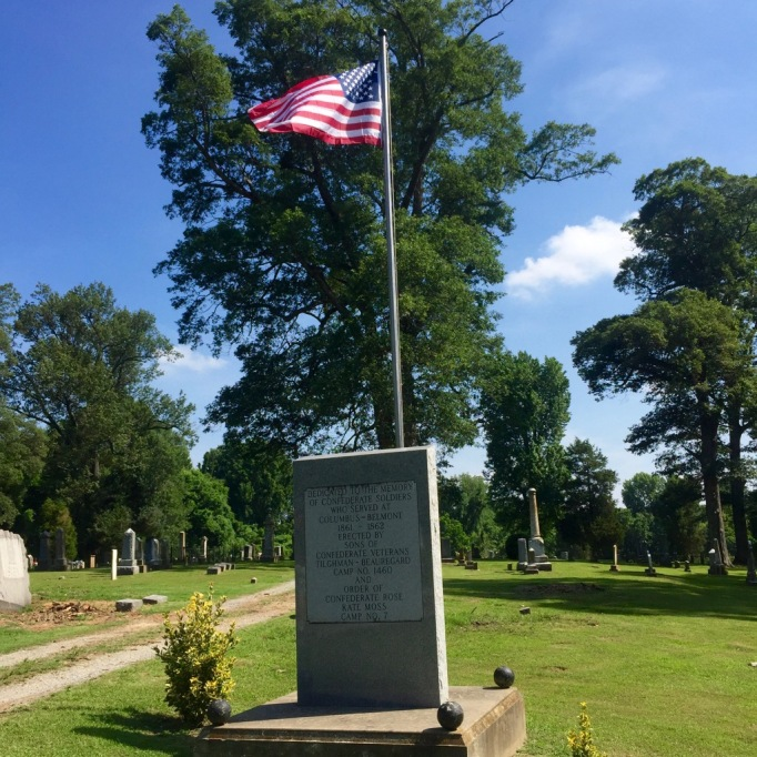 Dedicated to the Memory of Confederate Soldiers Who Served at Columbus - Belmont 1861-1862 Erected by Sons of Confederate Veterans Tilghman - Beauregard Camp No. 1460 and Order of Confederate Rose Kate Moss Camp No. 7