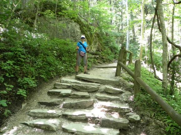 Natural steps don't bother me! Strange isn't it?