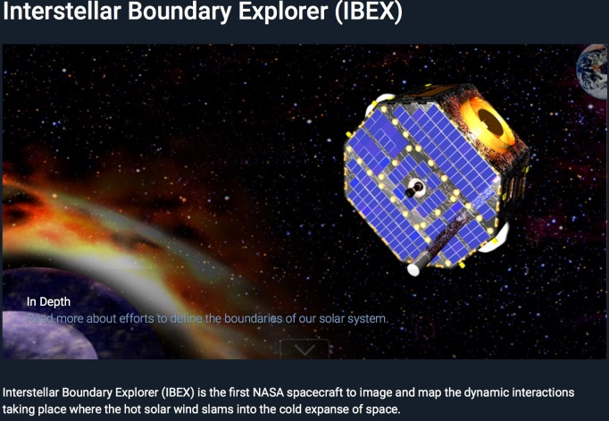 Interstellar Boundary Explorer is the first NASA spacecraft to image and map the dynamic interactions taking place where the hot solar wind slams into the cold expanse of space.