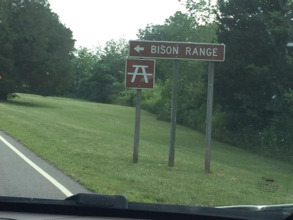 Bison Range sign