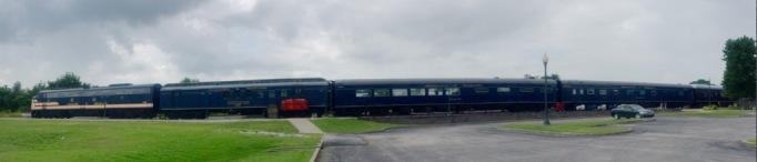 The train cars we toured inside.