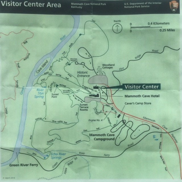 Map of the trails around the Visitor Center. We could have spent another day or two here.