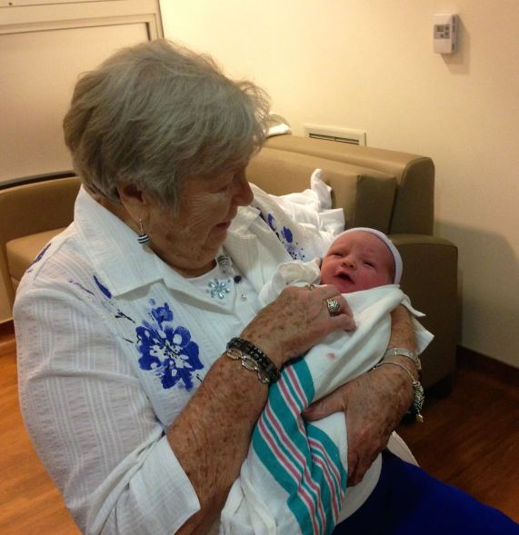 On August 19, 2013, we celebrated my mom's 90th birthday and the birth of our first grandson. Oh glorious day!