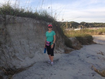 Amazing that we captured this picture of the sand dunes at between Myrtle Beach State Park and Springmaid Beach.
