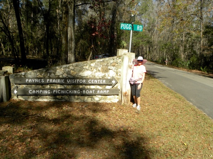 The campground was just a few 100 yards away, but the visitor center a few miles!