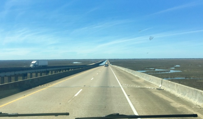 Crossing over into Mississippi.