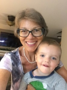While it is VERY hard to get him to cooperate for a photo, here is our adorable second grandson.