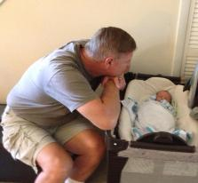 Our love affair began here, in August 2013, with our first born at 5 days old.