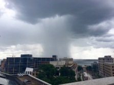 Then a few storms came to town! We took this from on top of the Capitol while we waited for our tour to start.