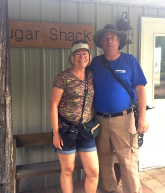 Jerry and Shari Voigt at the Sugar Shack!