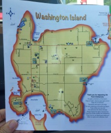 Next stop is Washington Island. It's a big little island. Too far to see the sights on foot. But if you bring or rent a bicycle, it is doable.