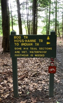 This was the sign to the longest hike. The day we hiked a portion of it, it was dry.