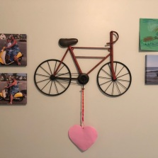 Final art wall. The boys want to add their own pictures. The heart was from an object lesson in Sunday school.