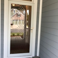 We wanted a storm door and a way to let more light into our entrance way.