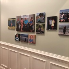 In our entrance hallway. It's a bit of a project just hanging these and we plan to add more each year.