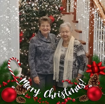 Marsha created a beautiful Christmas message with her and mom!