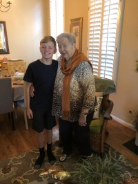 Mom and great grandson at Thanksgiving.